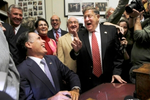 Monday, Oct. 24, 2011 in Concord, N.H. (AP Photo/Jim Cole) I'm on the right hand side next to Sununu