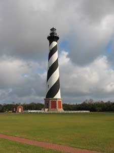 The Cape Hatteras Lighthouse, completed in 1870, is the tallest brick lighthouse in North America. NPS Photo